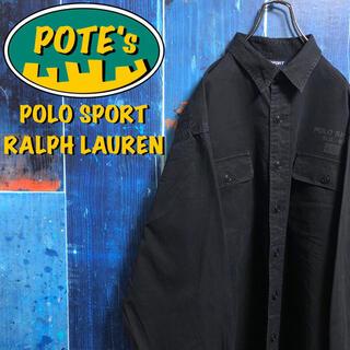 POLO RALPH LAUREN - 【ポロスポーツラルフローレン】星条旗ロゴダブルポケットビッグチノワークシャツ
