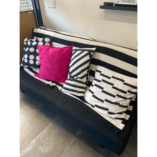 イケア(IKEA)のIKEAシングルソファーベッドブラック(ソファベッド)