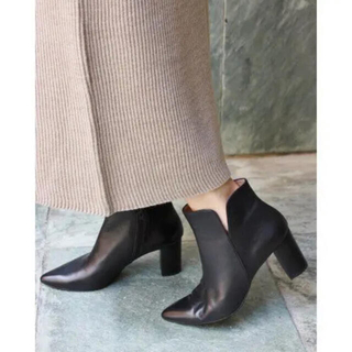 IENA - IENA PACO POVEDA 7cm ブーティー ブーツ 38 ブラウン
