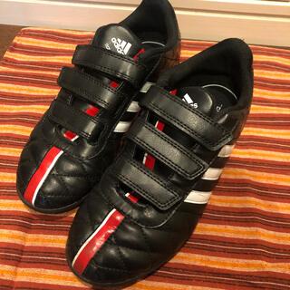 adidas - 美品 アディダス  21.5センチ サッカーシューズ 人工芝 ブラック キッズ