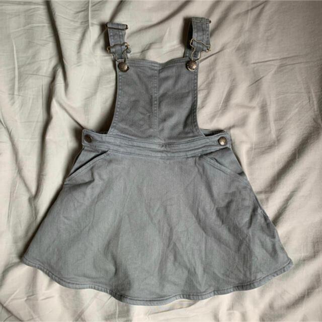 Bonpoint(ボンポワン)のBONTON  ジャンパースカート 4a  エプロンワンピ キッズ/ベビー/マタニティのキッズ服女の子用(90cm~)(ワンピース)の商品写真