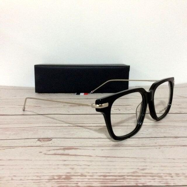 THOM BROWNE(トムブラウン)のTHOMBROWNE トムブラウン 伊達メガネ TB-701 黒銀 メンズのファッション小物(サングラス/メガネ)の商品写真