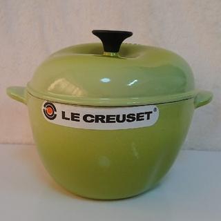 ルクルーゼ(LE CREUSET)のル・クルーゼ 【小キズあり】 ココット アップル グリーン(鍋/フライパン)