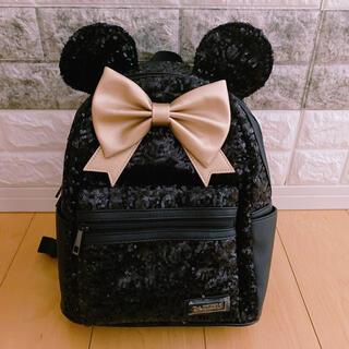 Disney - 香港ディズニー15周年アニバーサリーブラックスパンコールリュック