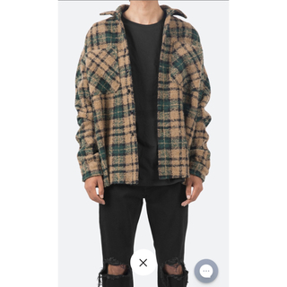 FEAR OF GOD - mnml LOOSE WOVEN FLANNEL SHIRT M