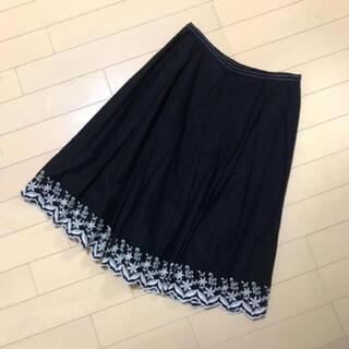 NOLLEY'S - NOLLEY'S 花刺繍スカート