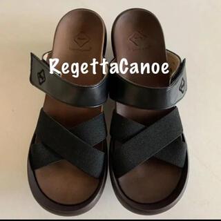 Regetta Canoe - ☆新品☆ RegettaCanoe リゲッタカヌー サンダル 黒 L