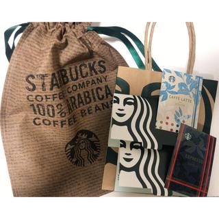 Starbucks Coffee - スタバ 袋 巾着 ミニバッグ ケース シール