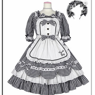 Angelic Pretty - Angelic Pretty Heart Cafe ワンピースセット クロ