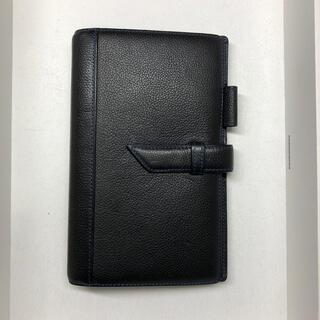 バインデックス システム手帳 黒 (ブルーステッチ) リフィルなし