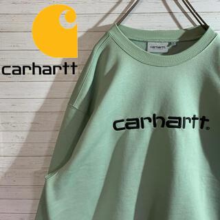 carhartt - 【carhartt】好配色 デカロゴ 刺繍 アースカラー スウェット