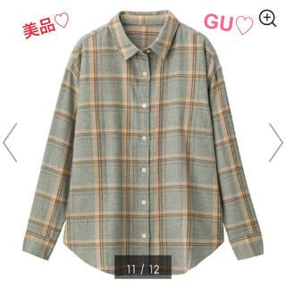 GU - 【美品】2/28まで値下げ♡ジーユー♡シャツ♡チェックシャツ