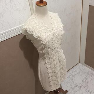 リップサービス(LIP SERVICE)のショルダー刺繍レースドレス キャバ ワンピース(ナイトドレス)