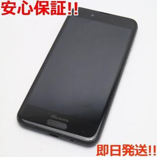 アクオス(AQUOS)の美品 SIMロック解除済 SH-01K ブラック 本体 白ロム (スマートフォン本体)