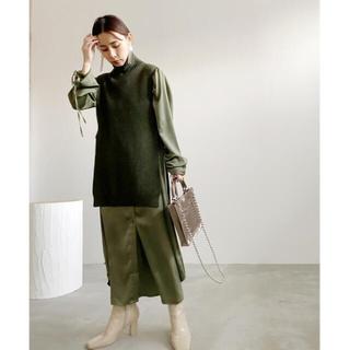 Ameri VINTAGE - AmeriVINTAGE★VEST LAYERED SHIRT DRESSカーキ