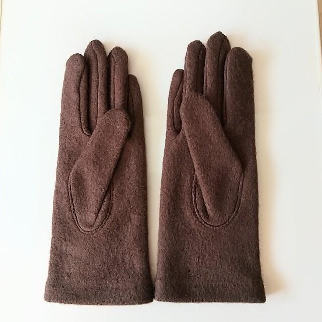 【新品・未使用】レディース手袋 ブラウン レディースのファッション小物(手袋)の商品写真