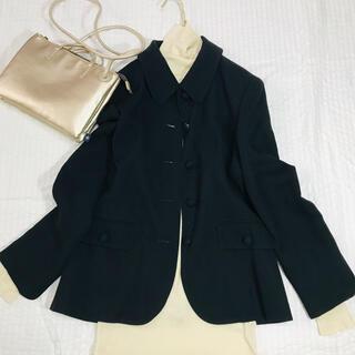 クミキョク(kumikyoku(組曲))のSUIVI ジャケット オンワード 黒 冠婚葬祭 ブラック フォーマル(テーラードジャケット)