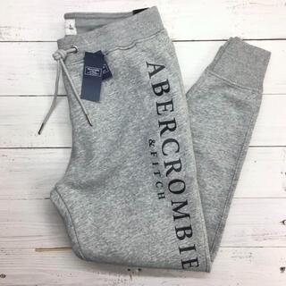 Abercrombie&Fitch - 新品【メンズXS】★アバクロ★プリント入りスウェットジョガーパンツ/グレー