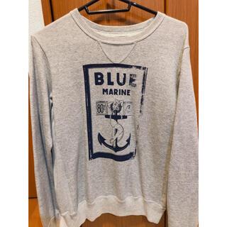 ブルーブルー(BLUE BLUE)のBLUE BLUE MARINEプリントトレーナースウェット古着好きヴィンテージ(スウェット)