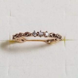 ヨンドシー(4℃)の【4℃】K10YG ダイヤモンドピンキーリング(リング(指輪))