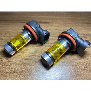 100W H8 H11 H16 LED フォグランプ イエロー 黄色 2個セット