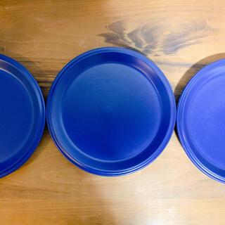 ミカサ(MIKASA)のMIKASA 青色メイン皿3枚(食器)