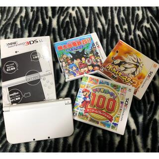 ニンテンドウ(任天堂)のNEW Nintendo 3DS LL本体 パールホワイト 4点セット(携帯用ゲーム機本体)