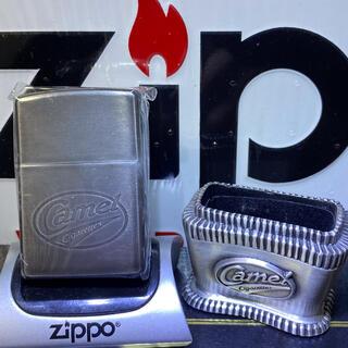 ジッポー(ZIPPO)の ZIPPO CAMEL ジッポ キャメル レディー・バーバラ台座付き未使用品(タバコグッズ)