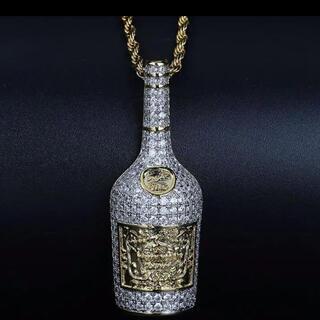 ブリンブリン バッドホップ ヘネシー シャンパン ネックレスCZダイアモンド