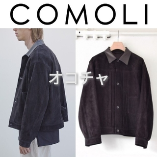 COMOLI - 18SS COMOLI シープスエードジャケット 黒