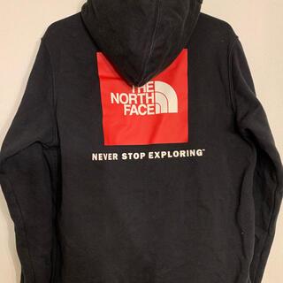 THE NORTH FACE - ノースフェイス パーカー ブラック ロゴ S