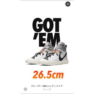 """NIKE - レディメイド × ナイキ ブレーザー ミッド """"ホワイト"""" 26.5cm"""