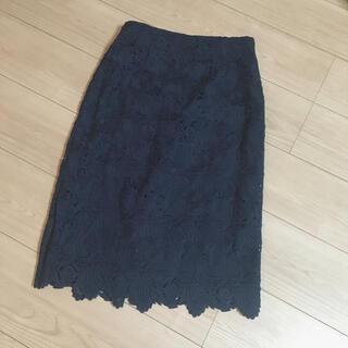 エストネーション(ESTNATION)のエストネーション レースタイトスカート(ひざ丈スカート)