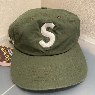 Supreme - supreme  S logo 6 panel cap olive