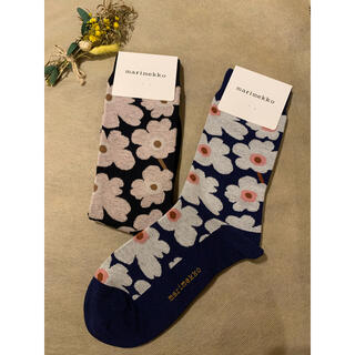 marimekko - マリメッコ靴下 新柄2点セット