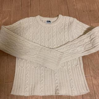 インディオ(indio)の白 セーター サイズM(ニット/セーター)