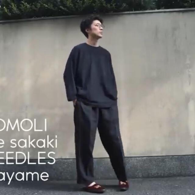 COMOLI(コモリ)の20aw comoli フットボールTシャツ ネイビー サイズ3 メンズのトップス(Tシャツ/カットソー(七分/長袖))の商品写真