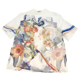 フェンディ(FENDI)のフェンディ FENDI シアーアロハシャツ 半袖シャツ メンズ【中古】(シャツ)