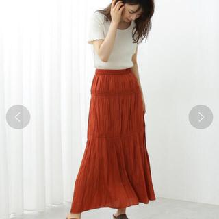 PROPORTION BODY DRESSING - ボディドレ ギャザーサテンティアードマキシスカート ダークベージュ 2s