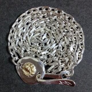 Silver Dollar Craft K18サンダーGPタタキ付き細角チェーン