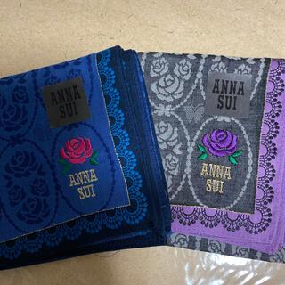 ANNA SUI - ANNA SUI アナスイ 薔薇のハンカチ 色違い2枚 ローズ