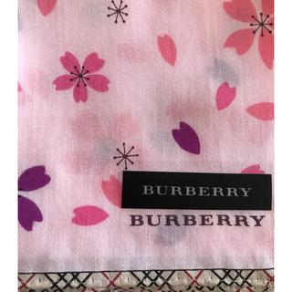 BURBERRY - ☆新品☆バーバリーハンカチ 桜🌸🌸