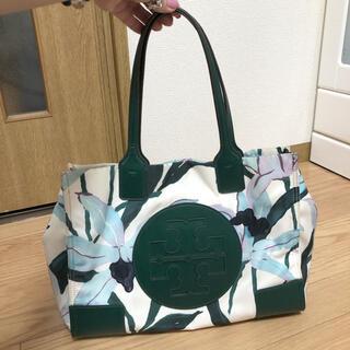 Tory Burch - トリーバーチ 花柄×グリーン ナイロントート 最終価格