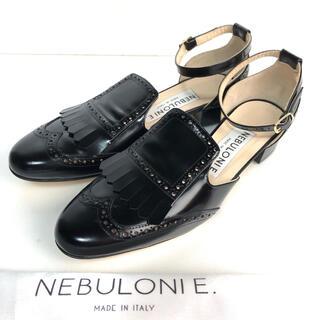 DEUXIEME CLASSE - 美品 36.5 NEBULONIE ネブローニ パンプス 黒  24 ストラップ