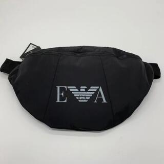 エンポリオアルマーニ(Emporio Armani)のアルマーニ ボディバッグ バッグ 黒 ロゴ クロスボディ EVA 海外限定(ボディーバッグ)