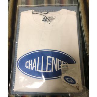 CHALLENGER チャレンジャー 限定 白L 半袖Tシャツ キーホルダー