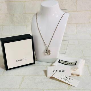 Gucci - ⭐️GUCCI グッチ Gマーク入り幸せの四つ葉のクローバーペンダントネックレス