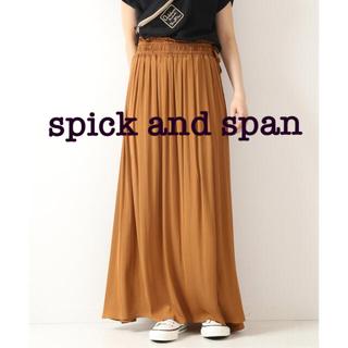 Spick and Span - サテンウエストシャーリング スカート