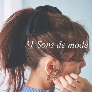 31 Sons de mode - 31 Sons de mode♥︎ ベロア ビッグリボン🎀✨ヘアバレッタ