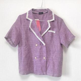 スピーガ(SPIGA)の新品 未使用 SPIGA リネンライクパール釦シャツジャケット(シャツ/ブラウス(半袖/袖なし))